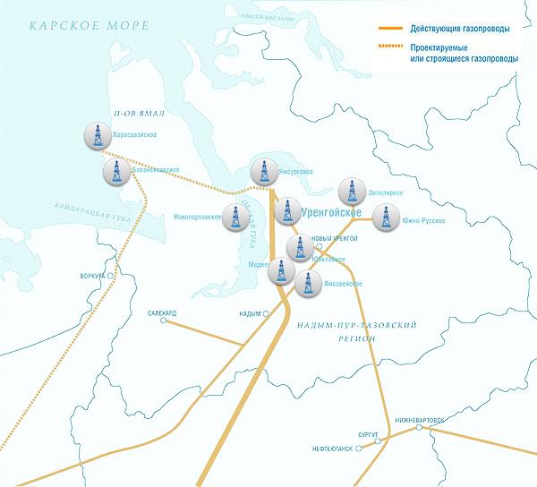Газопровод Уренгой-Помары-Ужгород На Карте